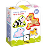 Progressive puzzles animals for toddlers - Hands at Play Farm Animals 2+