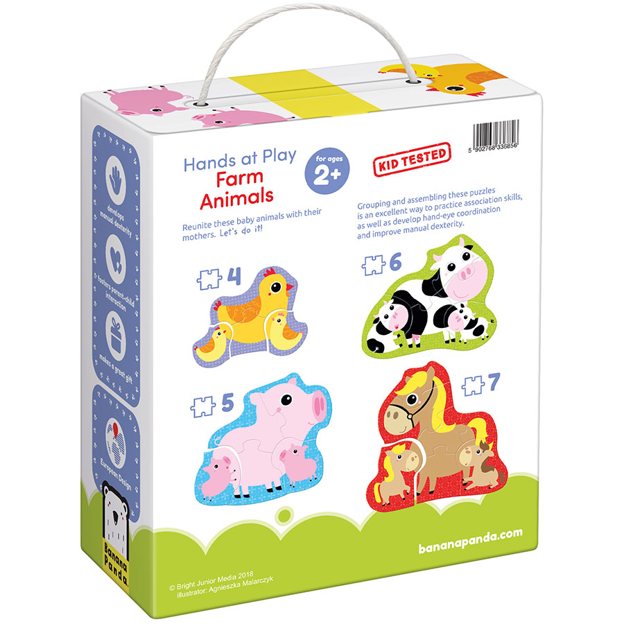 Farm Animals 2 Educational Puzzle Toy for Toddlers Baby Kids Children