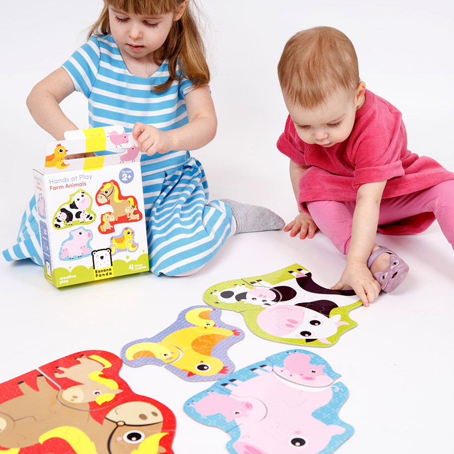 Animals jigsaw puzzles for toddlers - Hands at Play Farm Animals 2+