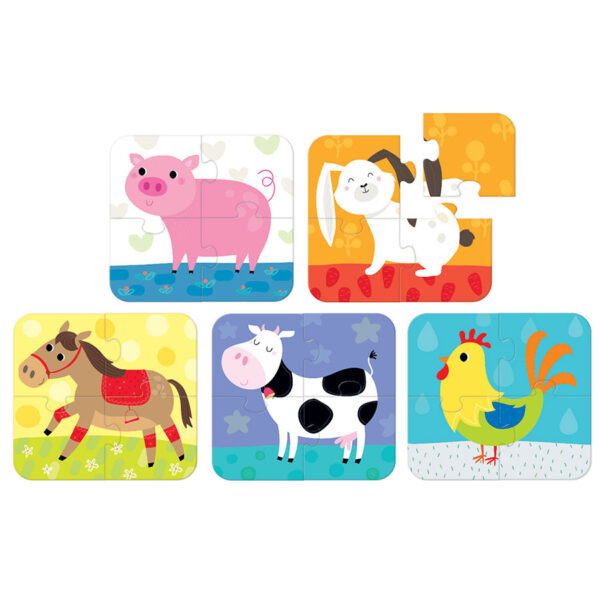 Puzzles to go Little Animals 2+