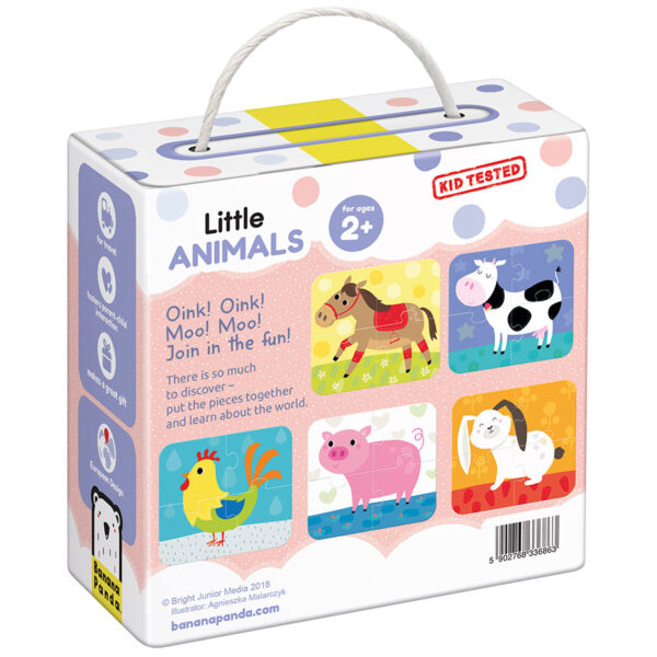 Mini puzzles for toddlers - Little Animals 2+