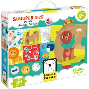 Suuuper Size Puzzle Animal Match - matching puzzle and activity for toddlers