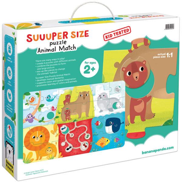 Suuuper Size Puzzle Animal Match - animal jumbo floor puzzle