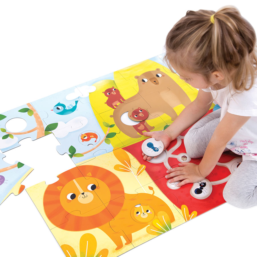 Matching puzzle and activity for toddlers - Suuuper Size Puzzle Animal Match