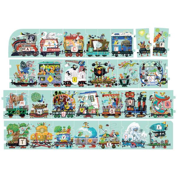 Alphabet puzzle for preschoolers - Suuuper Size Puzzle Alphabet Train 3+