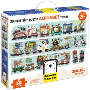 Suuuper Size Puzzle Alphabet Train 3+ floor alphabet train puzzle