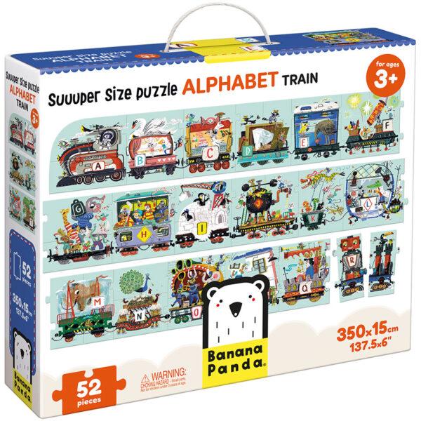 Suuuper Size Puzzle Alphabet Train 3+ floor alphabet train puzzle
