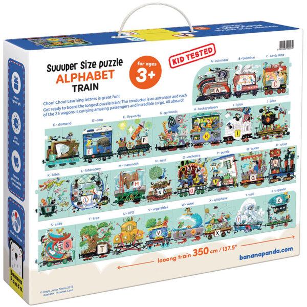 Suuuper Size Puzzle Alphabet Train 3+ jumbo alphabet puzzle