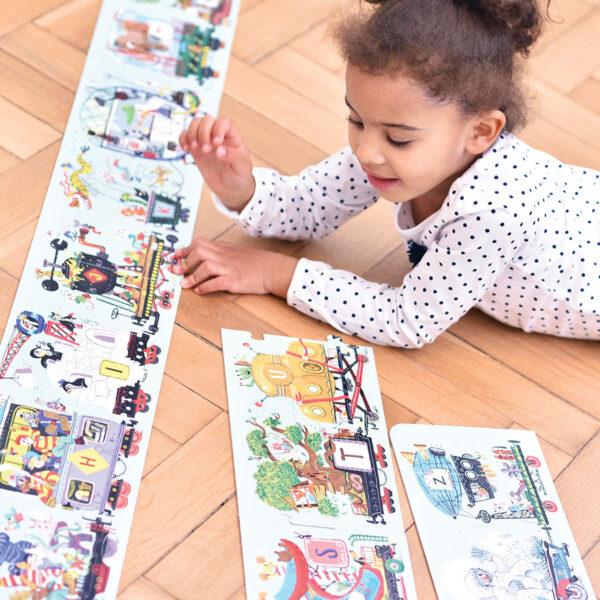 Suuuper Size Puzzle Alphabet Train 3+ very long train alphabet puzzle
