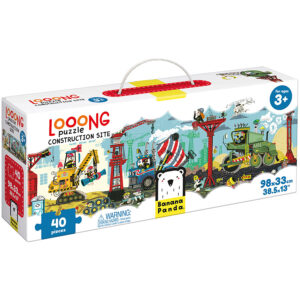 Vehicles themed puzzle for preschoolers - Looong Puzzle Construction Site