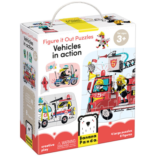Figure it out Puzzle Vehicles in Action 3+ - vehicles jigsaw puzzle set