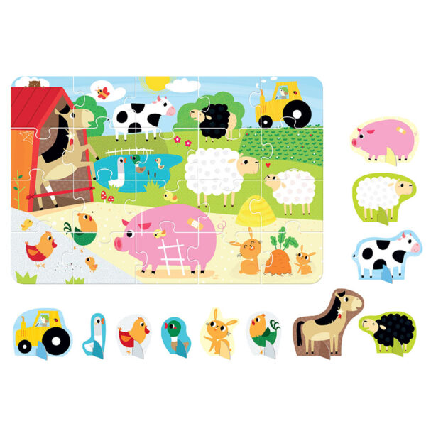 Farm animals puzzle and play figures - Figure it out Puzzle Farm 2+