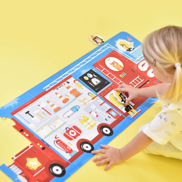 Shapes and colors mix and match puzzle - Make-a-Match Puzzle Fire Truck 2+