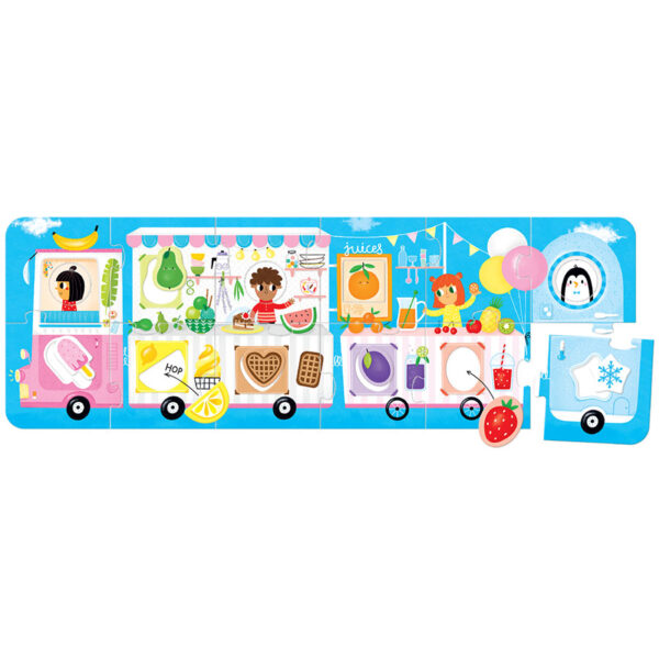 Shapes and colors mix and match puzzle - Make-a-Match Puzzle Food Truck 2+