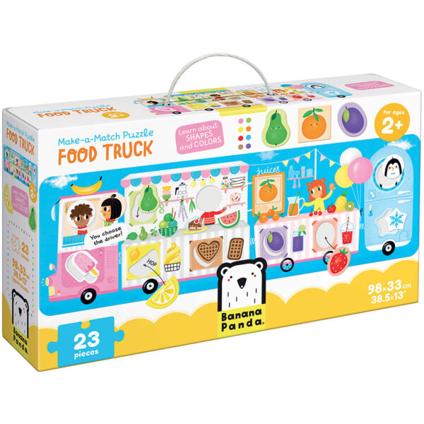 Shapes and colors learning puzzle - Make-a-Match Puzzle Food Truck 2+