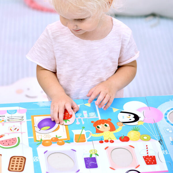 Colors and shapes large jigsaw puzzle for toddlers - Make-a-Match Puzzle Food Truck 2+