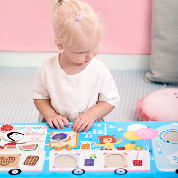 Colors and shapes matching puzzle - Make-a-Match Puzzle Food Truck 2+