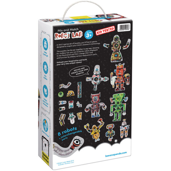 Mix and Match Robot Lab 3+ - robot mix and match puzzle set