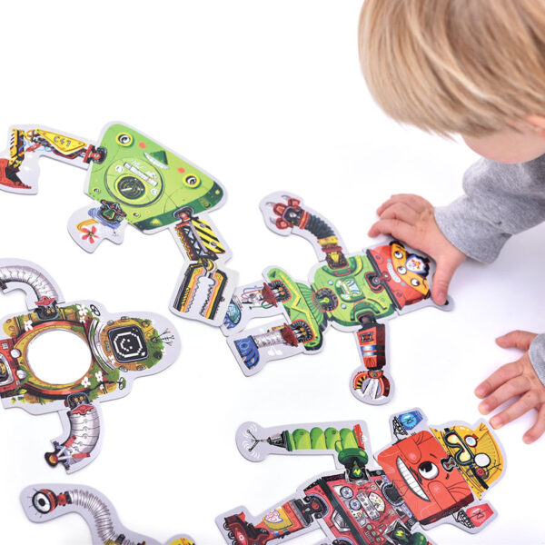 Mix and Match Robot Lab 3+ - floor jigsaw puzzle robots