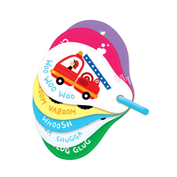 Sturdy flash cards for babies - Sounds All Around Vehicles
