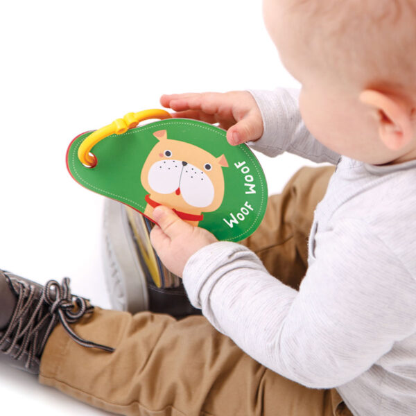 Sturdy flash cards for babies - Sounds All Around Animals