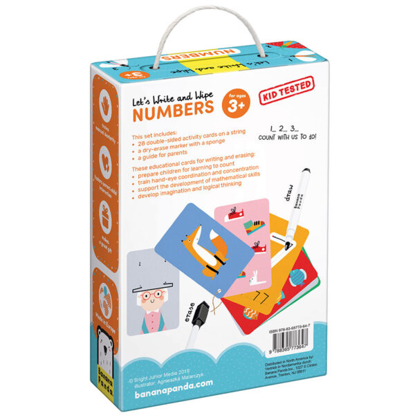 Let's Write and Wipe Numbers 3+ - write-on wipe-off activity cards