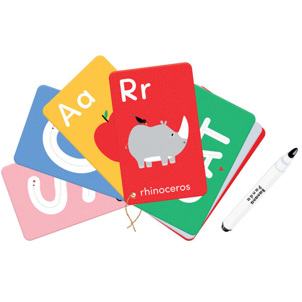 Alphabet wipe-clean activity cards - Let's Write and Wipe Letters 3+