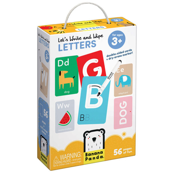 Let's Write and Wipe Letters 3+ - write and wipe learning letters cards