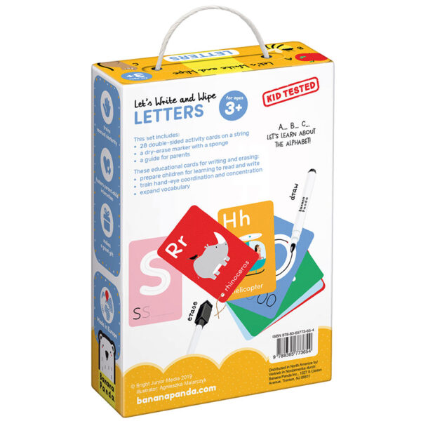Let's Write and Wipe Letters 3+ - write-on wipe-off activity cards