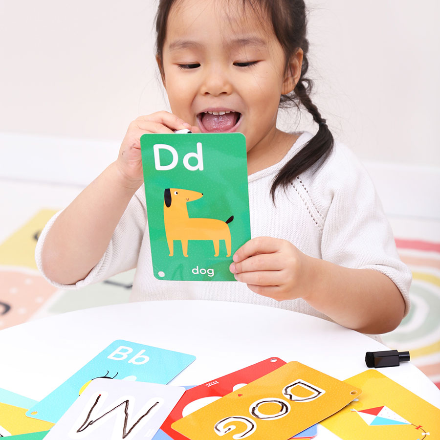 Wipe-clean activity workbook Let's Write and Wipe Letters 3+