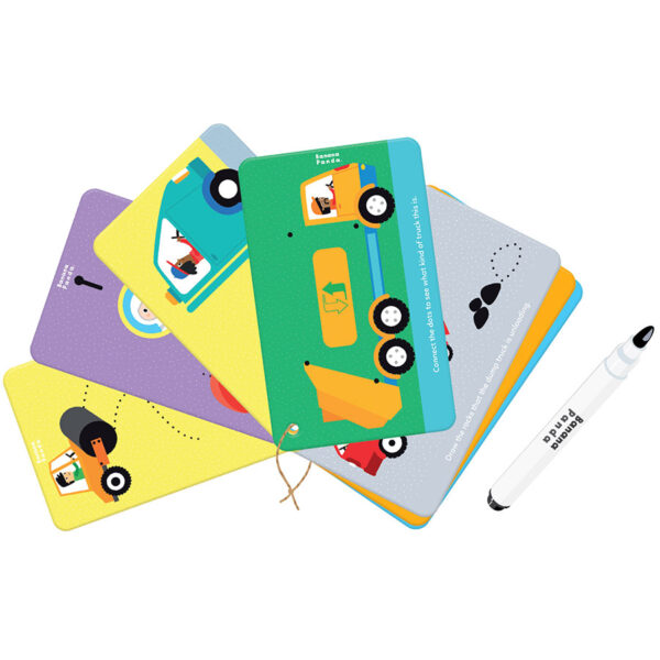 Let's Write and Wipe Vehicles 3+ - dry erase activity cards