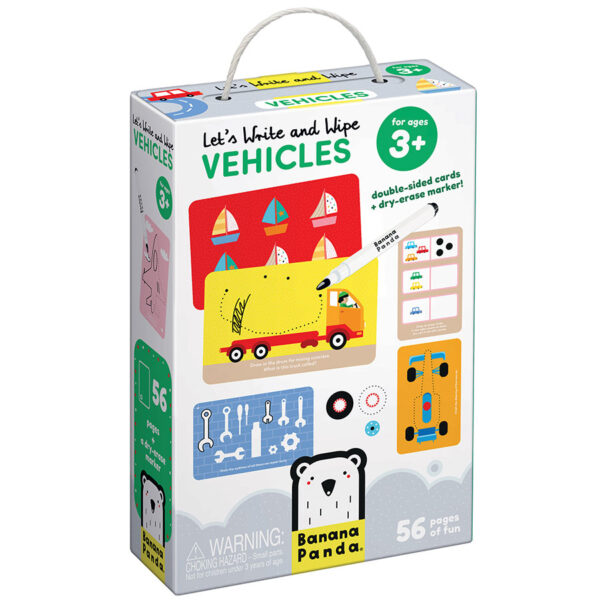 Vehicles wipe-clean activity cards - Let's Write and Wipe Vehicles 3+