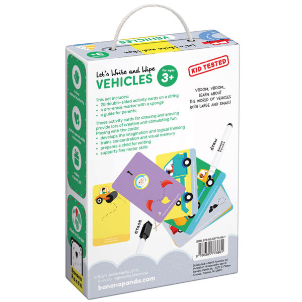 Let's Write and Wipe Vehicles 3+ - write and wipe vehicles activity cards