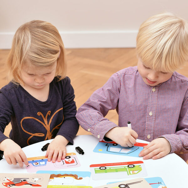 Let's Write and Wipe Vehicles 3+ - write-on wipe-off activity cards