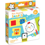 Kids Academy Shapes 2+ educational puzzle and coloring book set