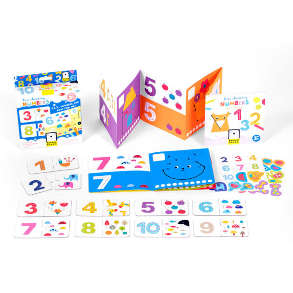 Kids Academy Numbers 3+ educational puzzles and coloring book set