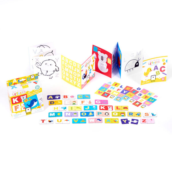 Kids Academy Letters 3+ coloring book and puzzles activity set