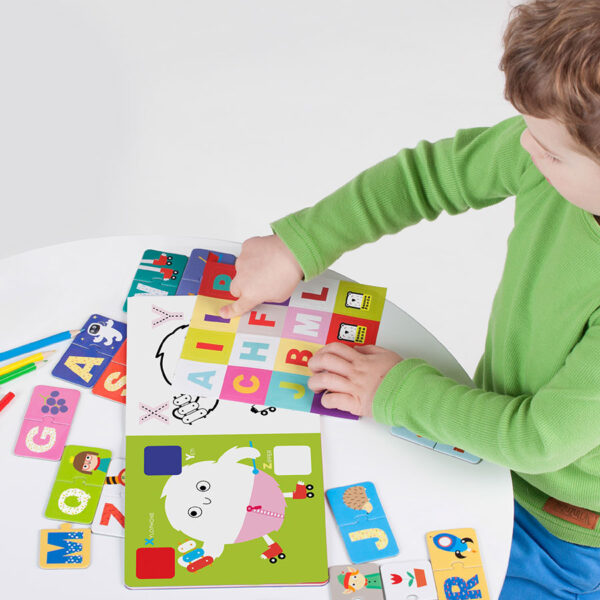 Kids Academy Letters 3+ - puzzles and drawing set