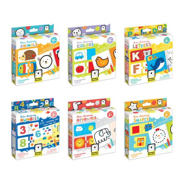 Kids Academy bundle - preschool activity set of 6 boxes