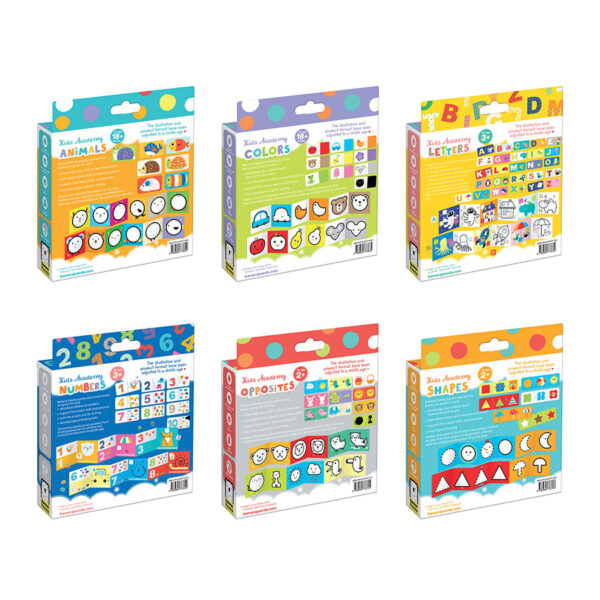 Kids Academy bundle - preschool creative and puzzle set of 6 boxes