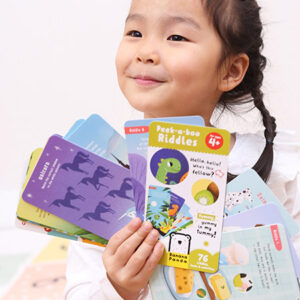 Peek-a-boo Riddles 4+ - fun and easy rhymed riddles book on a rivet