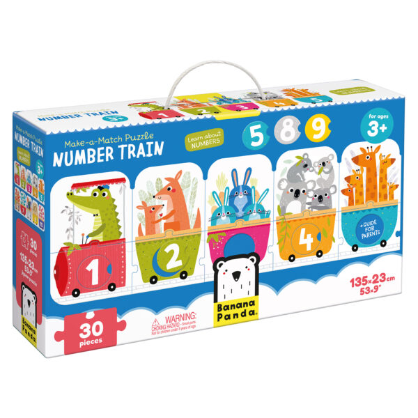 Make-a-Match Puzzle Number Train - learning about numbers mix and match puzzle