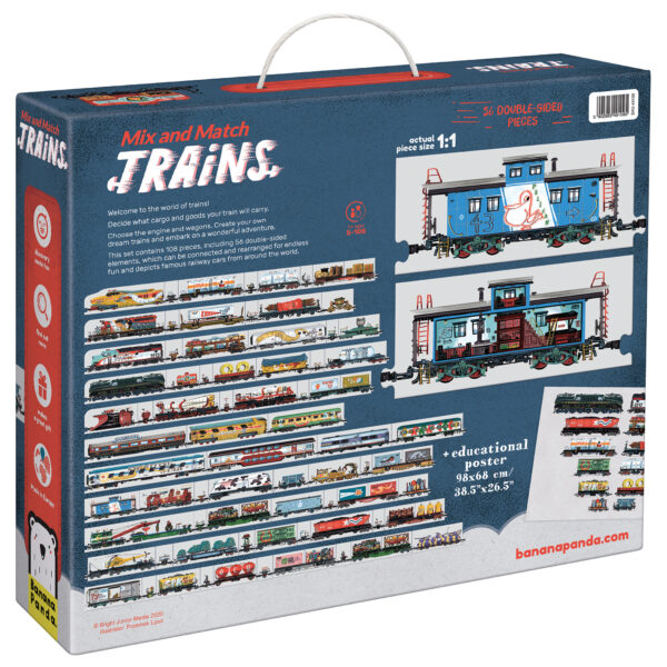 Mix and Match Trains - educational railway puzzle and poster set