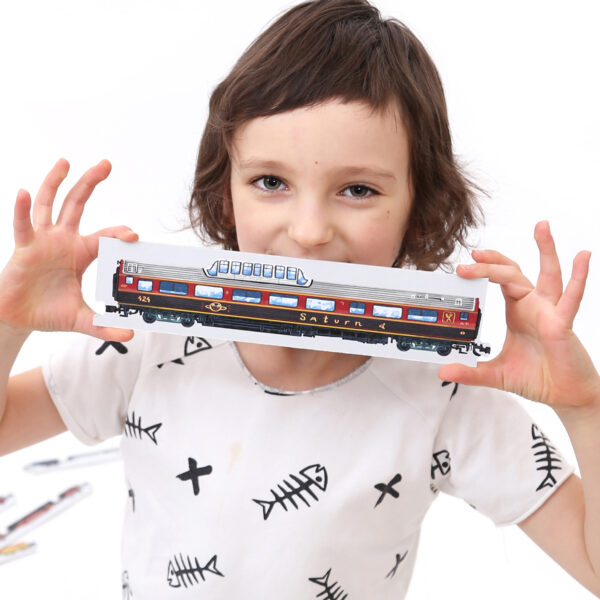 Mix and Match Trains - educational collector's set railway puzzle
