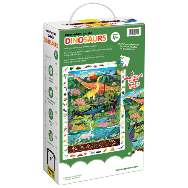 Observation Puzzle Dinosaurs - dinosaur floor puzzle and educational poster