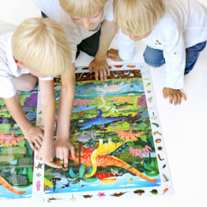 Dinosaurs puzzle with poster - Observation Puzzle Dinosaurs