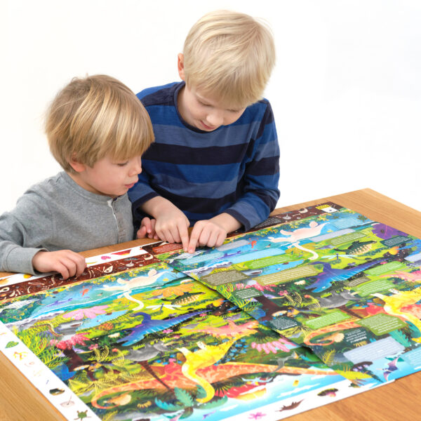 Floor puzzle with dinosaurs for preschoolers - Observation Puzzle Dinosaurs