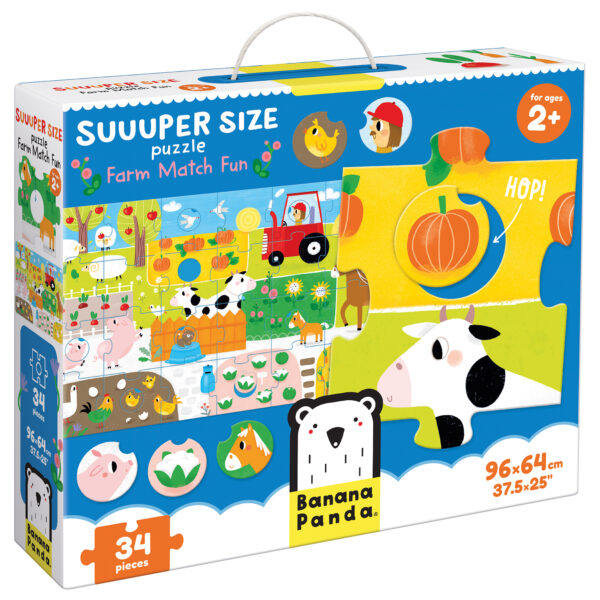 Suuuper Size Puzzle Farm Match Fun - educational puzzle for toddlers