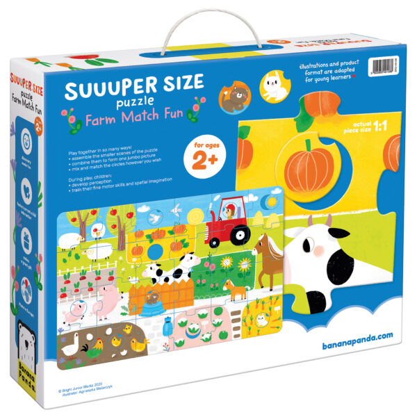Educational puzzle for todlers Suuuper Size Puzzle Farm Match Fun