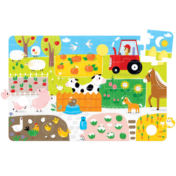 Suuuper Size Farm Match Fun - educational farm puzzle for toddlers